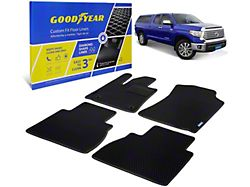 Goodyear Custom Fit Front and Rear Floor Liners; Black (12-21 Tundra Double Cab)