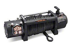 Deegan 38 9,500 lb. Winch with Black Synthetic Rope and Wireless Control (Universal; Some Adaptation May Be Required)