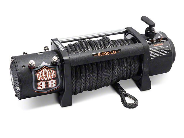Deegan 38 9,500 lb. Winch w/ Black Synthetic Rope & Wireless Control