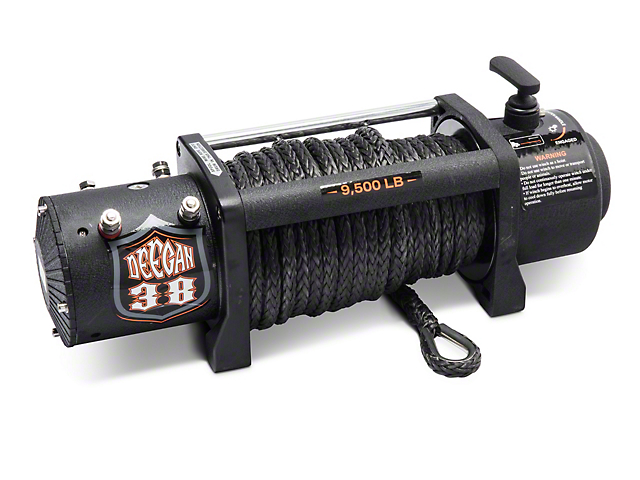 Deegan 38 9,500 lb. Winch with Black Synthetic Rope and Wireless Control