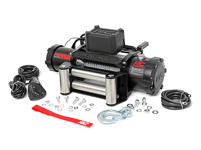 Rough Country PRO Series 9,500 lb. Winch w/ Steel Cable