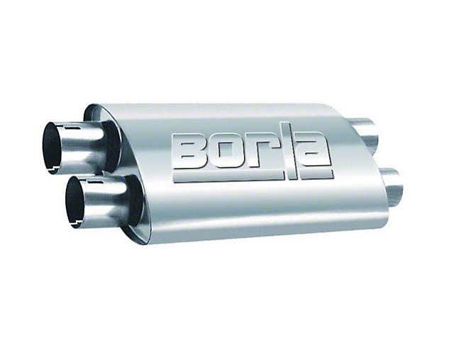 Borla Pro XS Dual/Dual Oval Muffler; 2.25-Inch (Universal Fitment)