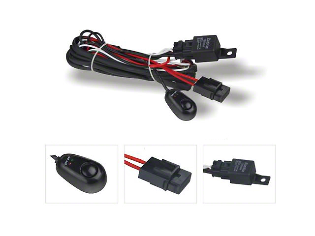 DV8 Off-Road Wiring Harness w/ Relay & Switch