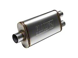 Flowmaster FlowFX Center/Dual Oval Muffler; 3-Inch / 2.50-Inch (Universal; Some Adaptation May Be Required)