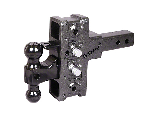 Gen-Y Hitch Mega-Duty 2 in. Receiver Hitch 16K Adjustable Ball Mount w/ Pintle Lock - 5 in. Offset Drop Hitch (Universal Fitment)