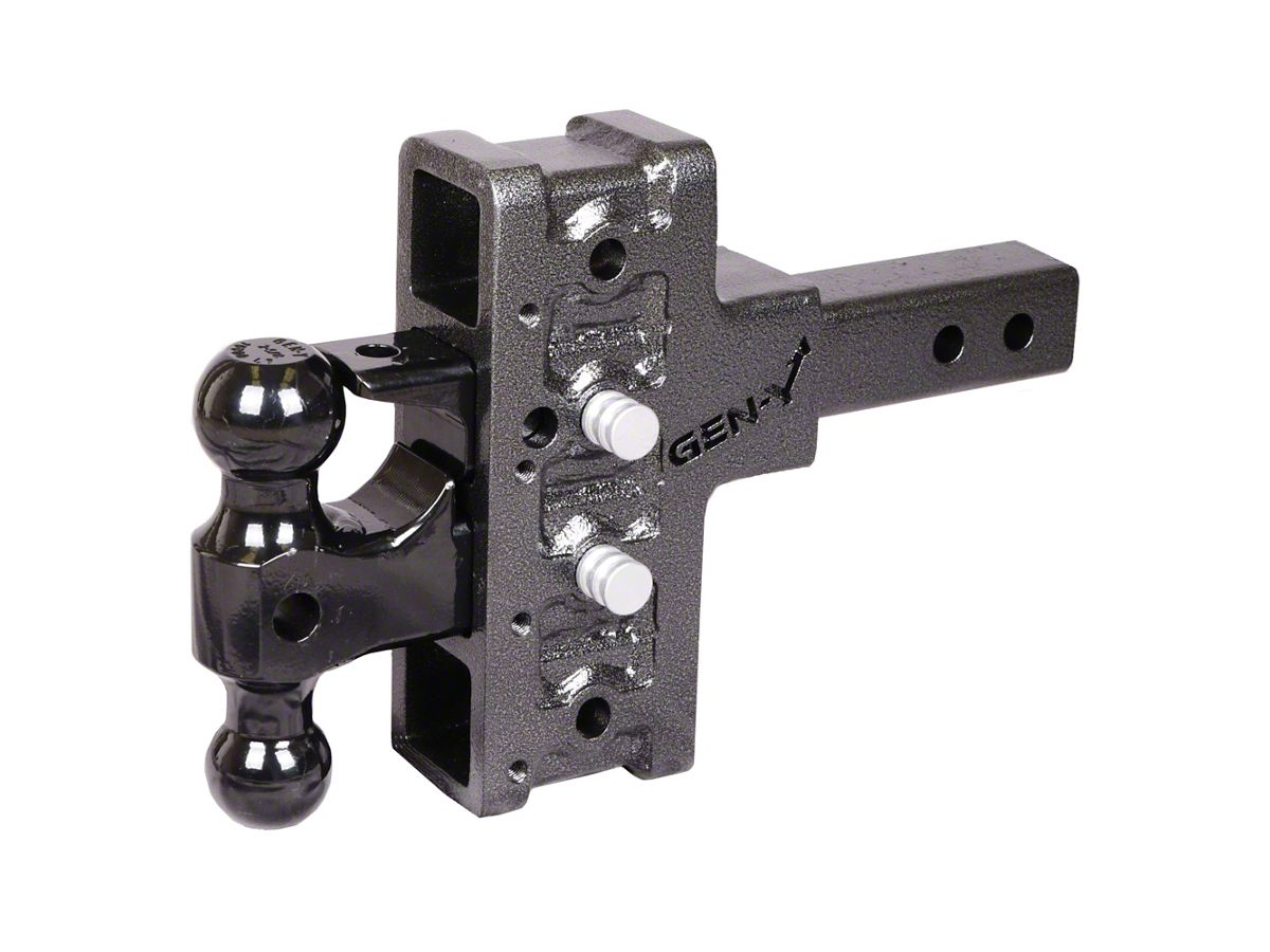 Adjustable Tow Hitch >> Gen Y Hitch Mega Duty 2 In Receiver Hitch 16k Adjustable Ball Mount W Pintle Lock 5 In Offset Drop Hitch Universal Fitment