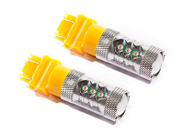 Diode Dynamics Amber Front Turn Signal Light LED Bulbs; 3157 XP80 (05-12 All)