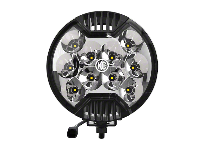 KC HiLiTES 6-Inch SlimLite Round LED Light; Spot Beam; Black