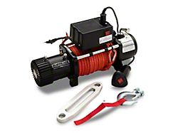 Barricade 10,000 lb. Winch with Synthetic Rope (Universal; Some Adaptation May Be Required)