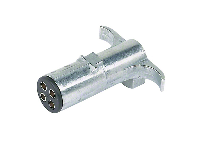 4-Pole Round Heavy Duty Trailer End Connector