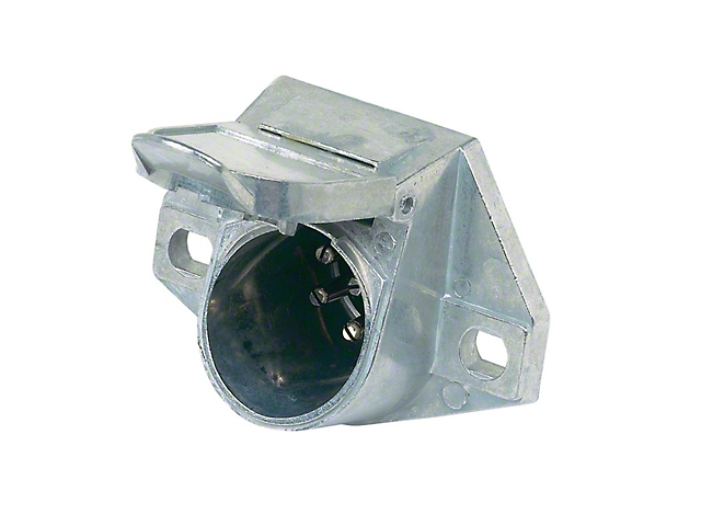 7-Pole Round Heavy Duty Vehicle End Connector