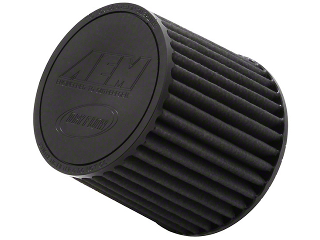 AEM Brute Force DryFlow Air Filter; 2.50-Inch Inlet / 5.125-Inch Length