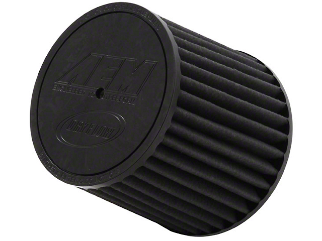 AEM Brute Force DryFlow Air Filter; 2.75-Inch Inlet / 5.25-Inch Length