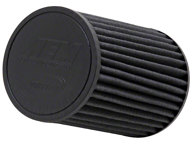 AEM Brute Force DryFlow Air Filter; 2.75-Inch Inlet / 8-Inch Length