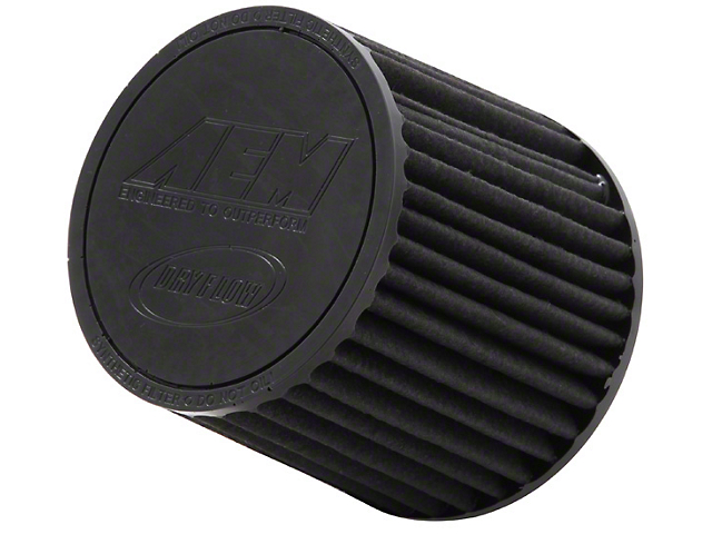 AEM Brute Force DryFlow Air Filter; 3.25-Inch Inlet / 5.25-Inch Length