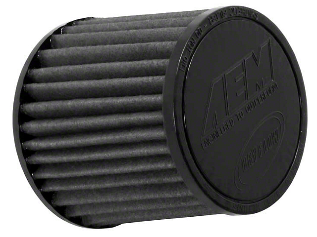AEM Brute Force DryFlow Air Filter; 3-Inch Inlet / 5-Inch Length