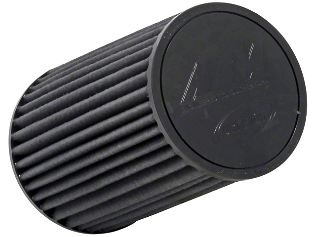 AEM Brute Force DryFlow Air Filter; 4-Inch Inlet / 9.188-Inch Length