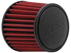 AEM DryFlow Air Filter; 3.25-Inch Inlet / 5.25-Inch Length (Universal; Some Adaptation May Be Required)