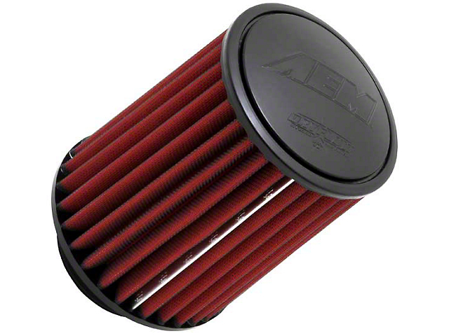 AEM DryFlow Air Filter; 3.50-Inch Inlet / 7-Inch Length