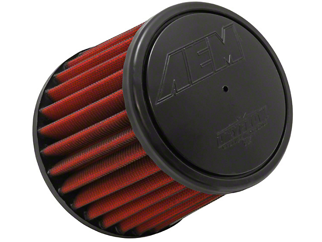 AEM DryFlow Air Filter; 3-Inch Inlet / 5-Inch Length