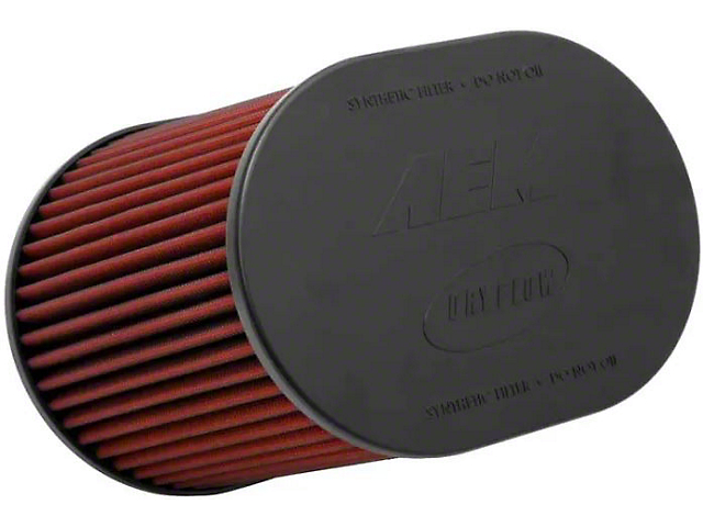 AEM DryFlow Air Filter; 4.50-Inch Inlet / 7-Inch Length