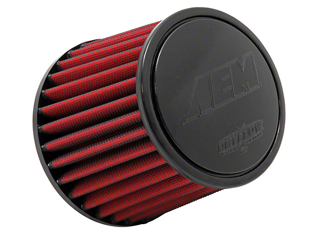 AEM DryFlow Air Filter; 4-Inch Inlet / 5.25-Inch Length