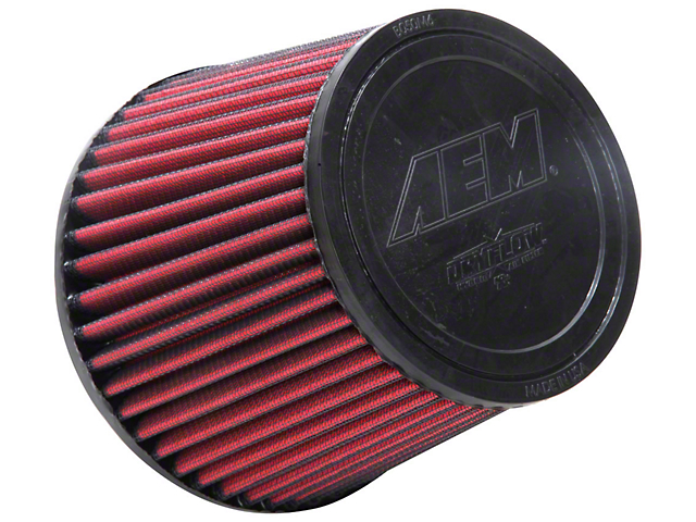 AEM DryFlow Air Filter; 5-Inch Inlet / 5-Inch Length