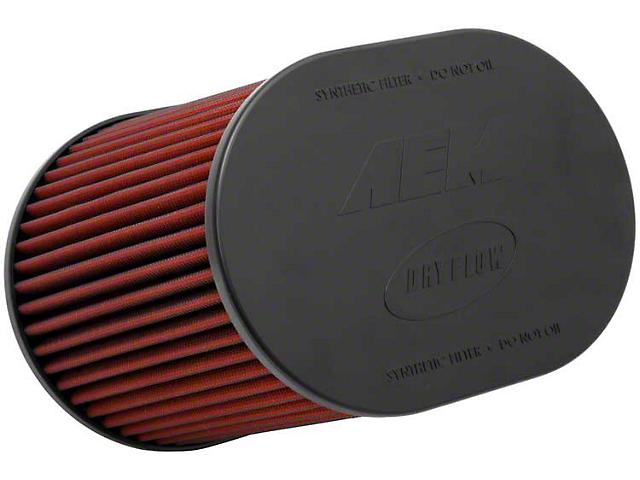 AEM DryFlow Air Filter; 5-Inch Inlet / 8-Inch Length