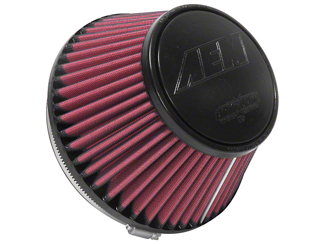AEM DryFlow Air Filter; 6-Inch Inlet / 4-Inch Length