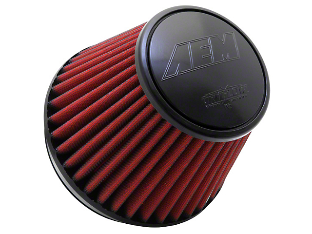 AEM DryFlow Air Filter; 6-Inch Inlet / 5.25-Inch Length