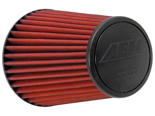 AEM DryFlow Air Filter; 6-Inch Inlet / 9.125-Inch Length