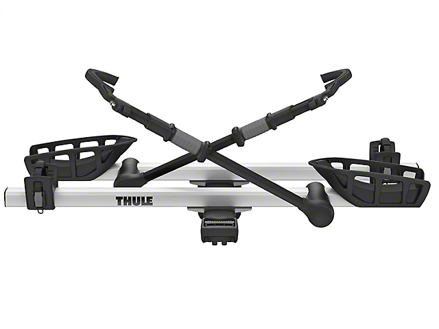 Thule 1.25-Inch Receiver Hitch T2 Pro XT 2 Bike Rack; Silver; Carries 2 Bikes (Universal Fitment)