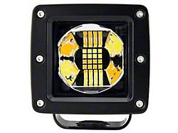 3-Inch Dual Color LED Cube Light; Amber and Clear (Universal; Some Adaptation May Be Required)