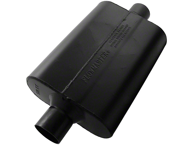 Flowmaster Super 44 Series Center/Center Muffler; 2.50-Inch (Universal Fitment)