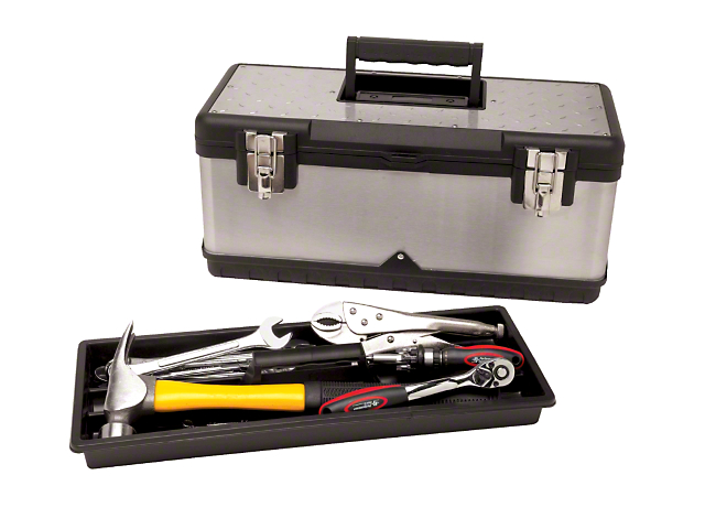 Steel Tool Box with Tool Tray; 20-Inch Wide