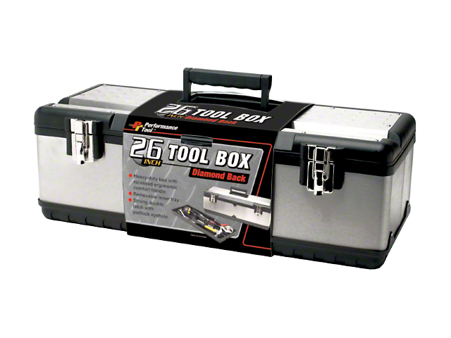 Steel Tool Box with Tool Tray; 26-Inch Wide