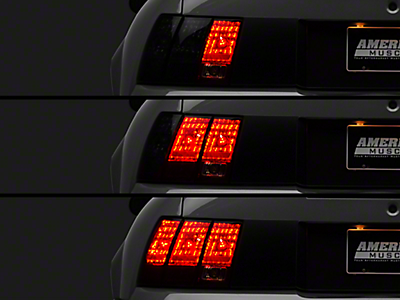 Axial Mustang Black Solid LED Tail Lights 49064 (99-04 All