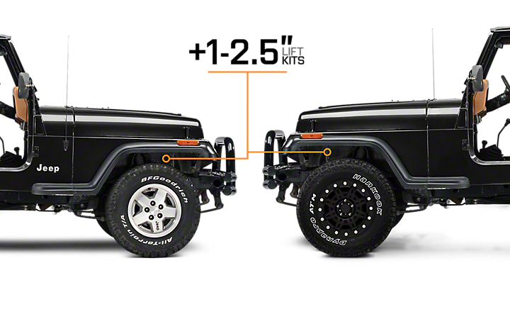 Jeep Lift Kits >> 1987 1995 Jeep Yj Lift Kits Wrangler Extremeterrain