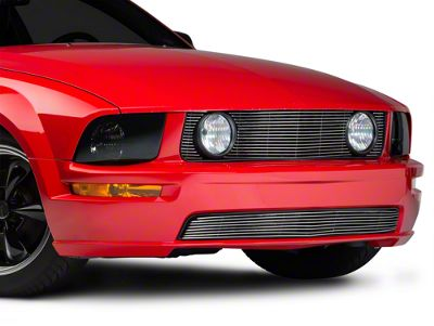 Modern Billet Pony Delete Billet Grille - Polished (05-09 GT)