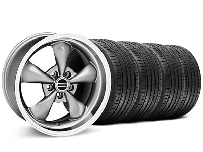 Bullitt Anthracite Wheel & Sumitomo Tire Kit - 17x9 (87-93 w/ 5 Lug Conversion)