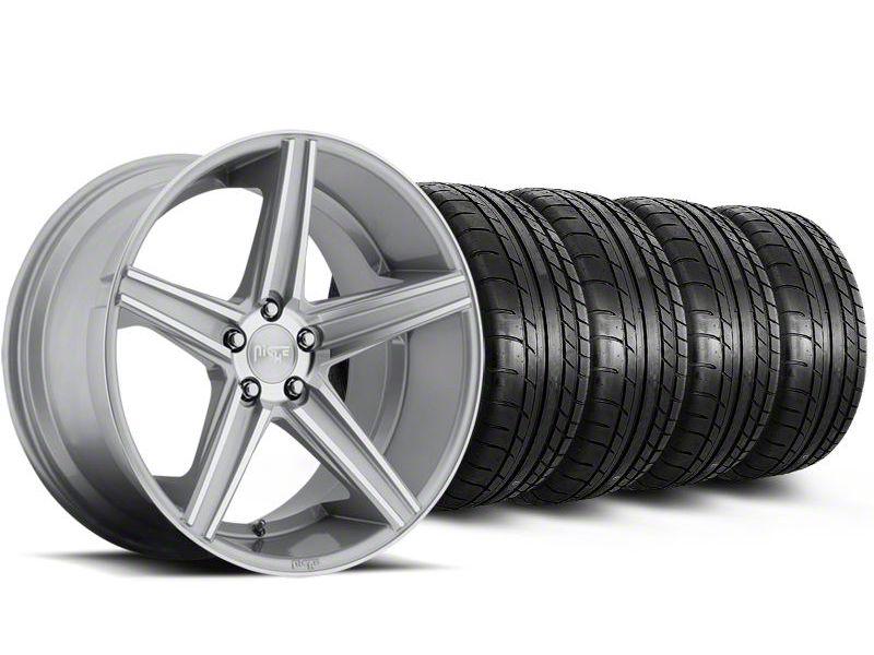 Niche Apex Machined Silver Wheel & Mickey Thompson Tire Kit - 20x8.5 (05-14 All)