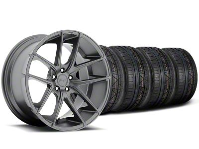 Niche Targa Matte Anthracite Wheel & NITTO INVO Tire Kit - 19x8.5 (05-14 All)