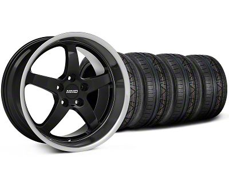 MMD Kage Black Wheel & NITTO INVO Tire Kit - 19x8.5 (05-14 GT, V6)