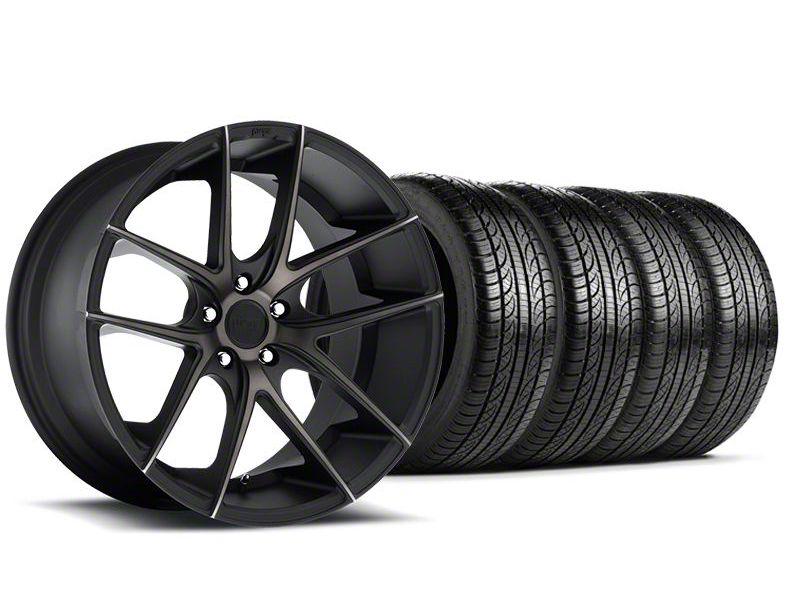 Staggered Niche Targa Black Wheel & Pirelli Tire Kit - 19x8.5/9.5 (05-14 All)