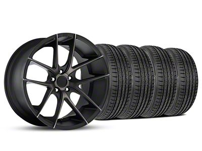 Staggered Niche Targa Black Wheel & Sumitomo Tire Kit - 19x8.5/9.5 (05-14 All)
