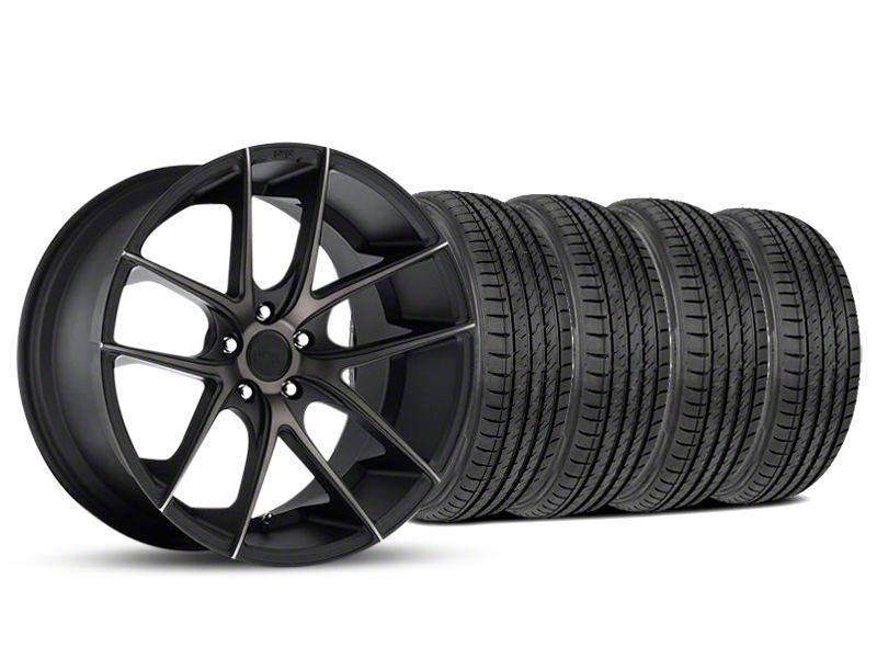Staggered Niche Targa Black Wheel & Sumitomo Tire Kit - 19x8.5/9.5 (05-14 All)