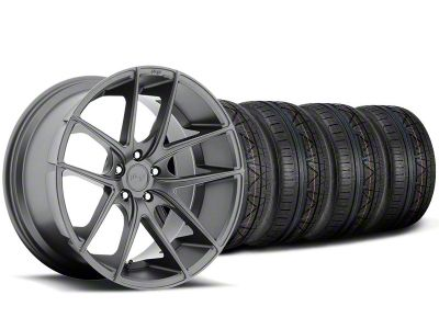 Staggered Niche Targa Anthracite Wheel & NITTO INVO Tire Kit - 19x8.5/9.5 (05-14 All)
