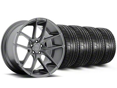 Staggered Niche Targa Anthracite Wheel & Mickey Thompson Tire Kit - 19x8.5/9.5 (05-14 All)
