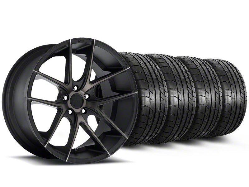 Staggered Niche Targa Black Wheel & Mickey Thompson Tire Kit - 20x8.5/10 (05-14 All)
