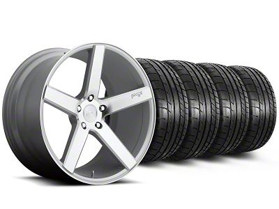 Staggered Niche Milan Silver Wheel & Mickey Thompson Tire Kit - 20x8.5/10 (05-14 All)
